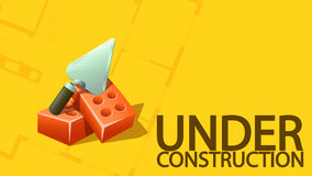 Under constuction banner Royalty Free Stock Images