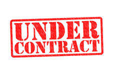 UNDER CONTRACT. Rubber Stamp over a white background Stock Image
