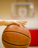 Under control_2. Basketball is controlled by the player, blurred backboard as background Stock Illustration