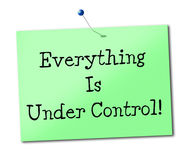 Under Control Means Display Advertisement And Placard Stock Photography