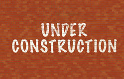 Under contruction Stock Photography