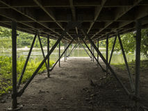 Under a deck in a Montreal park Stock Images