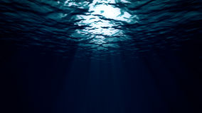 Under the Deep Dark Sea. A 30 second loop from under the ocean's surface stock footage