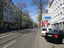 Under den Dusseldorf stadssolen Fotografering för Bildbyråer