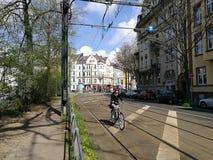 Under den Dusseldorf stadssolen Arkivfoto