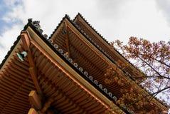 Under den röda pagoden Kyoto Royaltyfria Foton