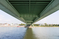 Under the Deutzer Bridge from the Rhine River Royalty Free Stock Photography