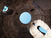 Under Diocletian Mausoleum Dome in Split. Croatia Royalty Free Stock Image
