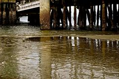 Under the Docks Stock Photography