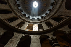 Under the dome of the Church of the Holy Sepulchre Royalty Free Stock Images