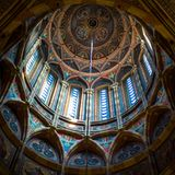 Under the dome in the church. Which is located in Chernotsevtsy royalty free stock photos