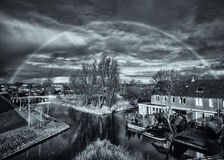 Under the dome - a rainbow in monochrome Stock Photography