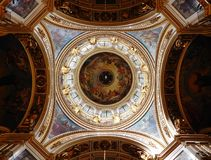 Under the dome of St. Isaac`s Cathedral in St. Petersburg