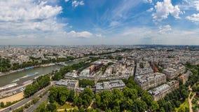 Under the Eiffel Towe stock photo