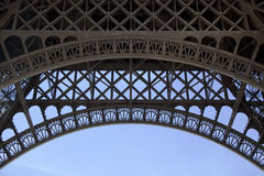 Under Eiffel Tower Stock Photography