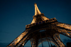 Under the Eiffel Tower Stock Photos