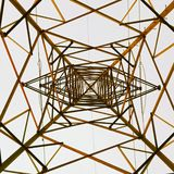 Under Electric Tower royalty free stock photos