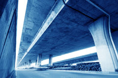 Under elevated road Stock Image