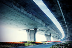 Under elevated road Stock Photos