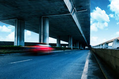 Under elevated road Royalty Free Stock Photo