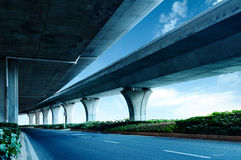 Under elevated road Royalty Free Stock Images