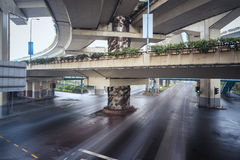 Under the elevated road Stock Photo