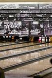Under en bowlinglek Arkivfoton