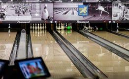 Under en bowlinglek Royaltyfria Bilder