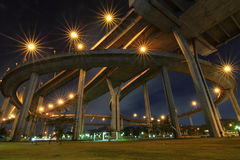Under the express way Stock Photography