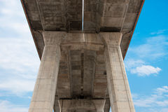 Under expressway with sky Stock Image