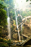 Under the falls. A steep waterfall not very far from chiang mai Royalty Free Stock Image