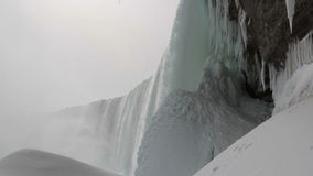 Under the Falls with Sound stock footage