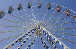 Under Ferris Wheel Stock Photography