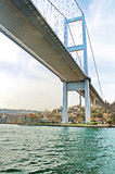 Under the First Bosphorus Bridge, Istanbul, Turkey Stock Photo