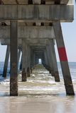 Under a Fishing Pier Royalty Free Stock Images