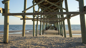 Under a fishing pier Royalty Free Stock Photography