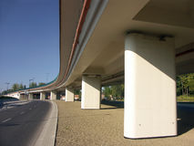 Under the flyover Royalty Free Stock Photos
