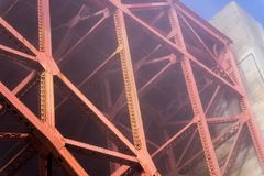 Under the Fog view at Golden Gate Bridge stock photography