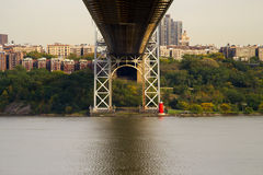 Under the George Washington Bridge, NJ and NY Royalty Free Stock Image