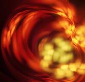 Under glass. Swirling, blurred substance visible under glass stock illustration