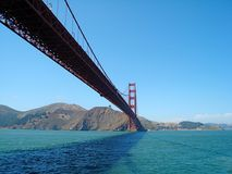 Under the Golden Gate Bridge. Shot on a perfect summer day underneath the Golden Gate Bridge Stock Image