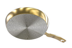 Under golden pan on white background Royalty Free Stock Photo