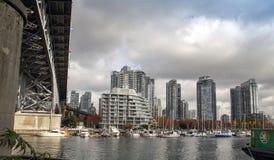 Under  Granville Bridge Vancouver city scape Royalty Free Stock Image