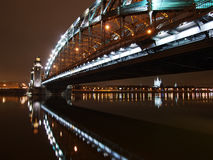 Under Great Piter bridge Royalty Free Stock Image