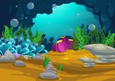 Under havsbakgrunden Arkivbild