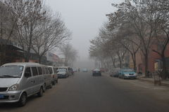 Under the haze of tianjin. The winter solstice of 2015, tianjin, Chinan Royalty Free Stock Photo