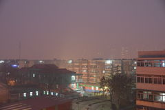 Under the haze of tianjin. The winter solstice of 2015, tianjin, Chinan Stock Photo