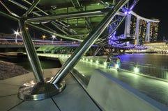 Under the Helix Bridge Stock Photo