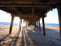 Under the Henley Jetty 1 stock image