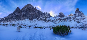 Under the high mountains - High Tatras. In the valley of Green Mountain Lake Royalty Free Stock Image